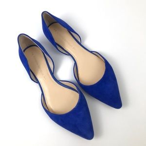 Banana Republic Rich Blue Suede D'Orsay Flat